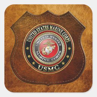 USMC Emblem [den speciella upplagan] [3D] Fyrkantigt Klistermärke