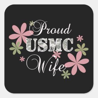 Usmc-fru [fl-camo] fyrkantigt klistermärke