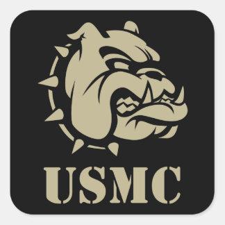 Usmc-hund Fyrkantigt Klistermärke