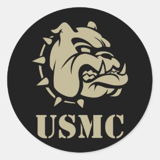 Usmc-hund Runt Klistermärke