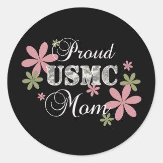Usmc-mamma [fl-camo] runt klistermärke