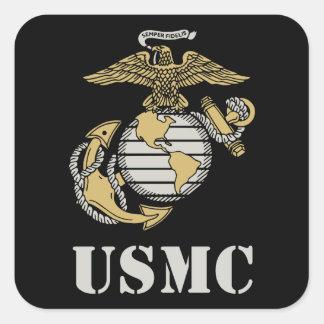 USMC [stencilera], Fyrkantigt Klistermärke
