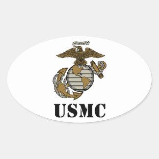 USMC [stencilera], Ovalt Klistermärke