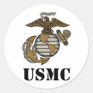 USMC [stencilera], Runt Klistermärke