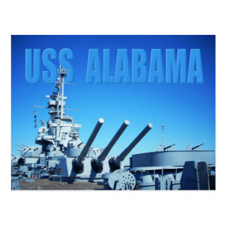 USS Alabama (BB-60), mobil, AL Vykort