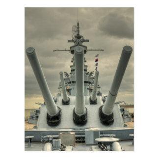 USS Alabama Vykort