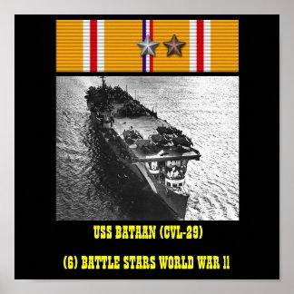 USS BATAAN (CVL-29) AFFISCH