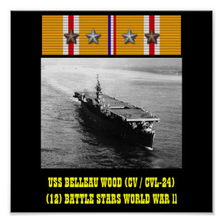 USS BELLEAU WOOD (CV/CVL-24) AFFISCH