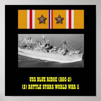 USS BLUE RIDGE (AGC-2) AFFISCH