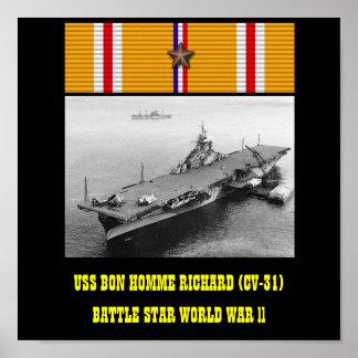 USS BON HOMME RICHARD CV-31 AFFISCH