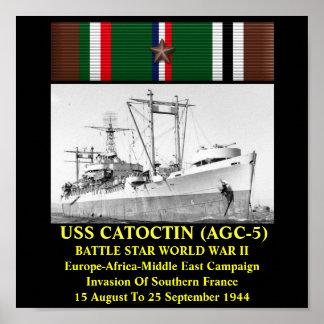 USS CATOCTIN (AGC-5) AFFISCH