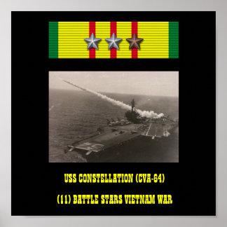USS CONSTELLATION (CVA-64) AFFISCH