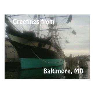 USS Constellation vykort