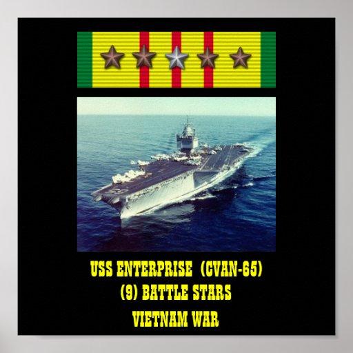 USS ENTERPRISE (CVAN-65) AFFISCH