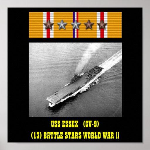 USS ESSEX (CV-9) AFFISCH