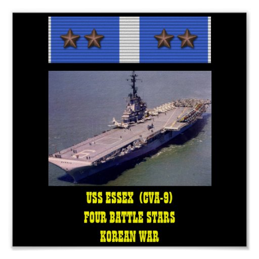 USS ESSEX (CVA-9) AFFISCH