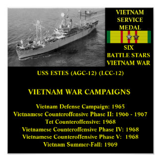 USS ESTES (AGC-12)/(LCC-12) AFFISCHER