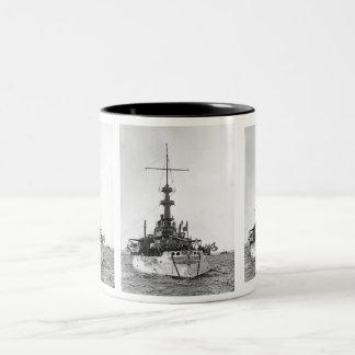 USS Indiana Två-Tonad Mugg