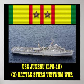 USS JUNEAU (LPD-10) AFFISCH