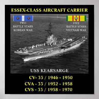USS KEARSARGE AFFISCH CV/CVA/CVS-33