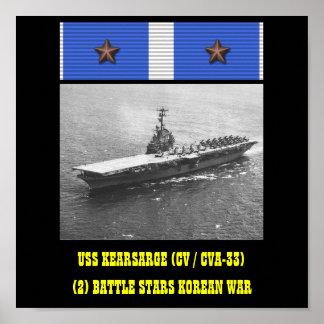 USS KEARSARGE CV CVA-33 AFFISCH