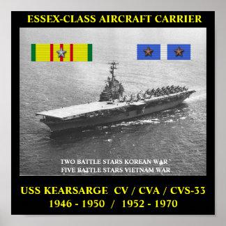 USS KEARSARGE CV CVA CVS-33 AFFISCH