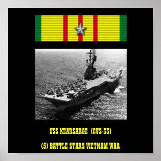 USS KEARSARGE (CVS-33)   AFFISCH
