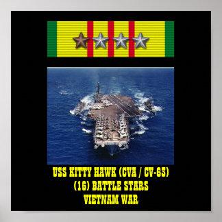 USS KITTY HAWK CVA CV-63 AFFISCH