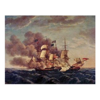 USS-konstitution vs. HMS Guerriere Vykort