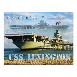 USS Lexington (CV-16), Corpus Christi, Texas Vykort