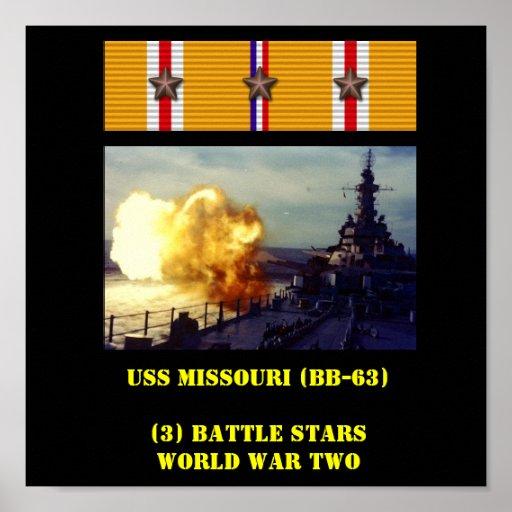 USS MISSOURI (BB-63) AFFISCH