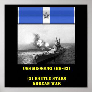 USS MISSOURI BB-63 AFFISCH