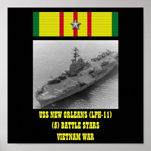 USS NEW ORLEANS (LPH-11) AFFISCH