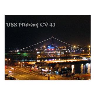 USS-nöjesgata på natten Vykort