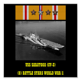 USS SARATOGA (CV-3) AFFISCH