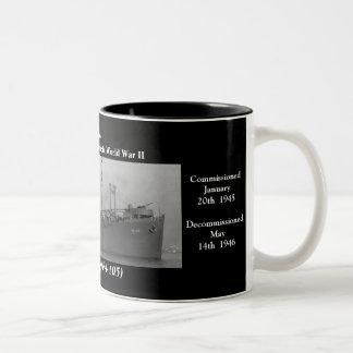 USS Shelby APA-105 Kaffe Koppar