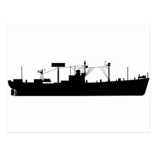 USS-spårämneSilhouette AGR-15 Vykort