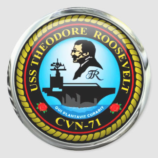 USS Theodore Roosevelt CVN-71 Runt Klistermärke