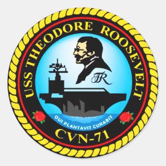 USS Theodore Roosevelt Runt Klistermärke