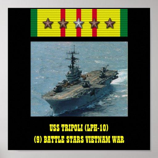 USS TRIPOLI (LPH-10) AFFISCH
