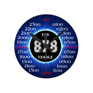 USS Vesole (DD-878) (DDR-878) Medium Rund Klocka