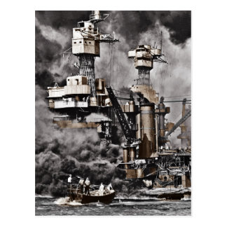 USS West Virginia Vykort