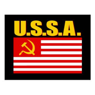 USSA-flagga Vykort
