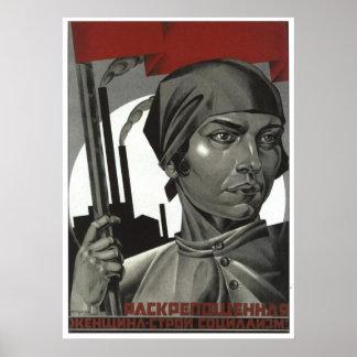 USSR CCCP kalla krigetsovjet - facklig propaganda  Affischer