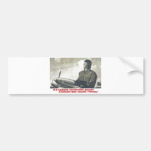 USSR CCCP kalla krigetsovjet - facklig propaganda  Bildekaler