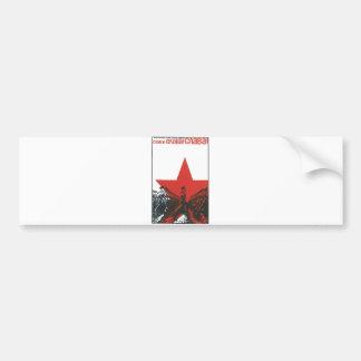 USSR CCCP kalla krigetsovjet - facklig propaganda Bildekal