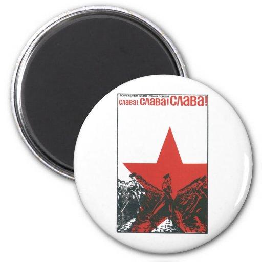 USSR CCCP kalla krigetsovjet - facklig propaganda  Magneter