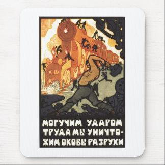 USSR CCCP kalla krigetsovjet - facklig propaganda Musmattor