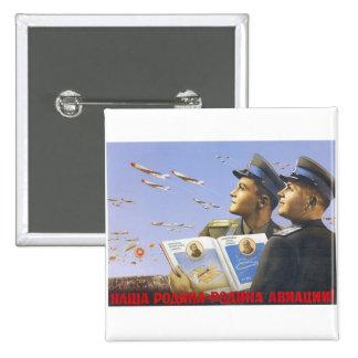 USSR CCCP kalla krigetsovjet - facklig propaganda Standard Kanpp Fyrkantig 5.1 Cm
