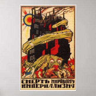 USSR sovjetisk bolsjevikisk propaganda 1919 Poster
